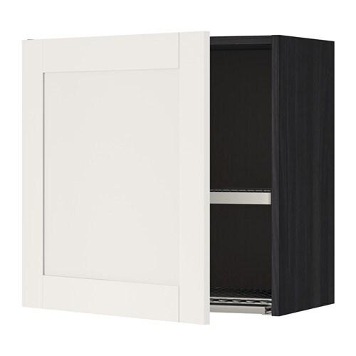 metod szafka cienna z suszark na naczyn imitacja drewna czarny s vedal bia y 60x60 cm ikea. Black Bedroom Furniture Sets. Home Design Ideas