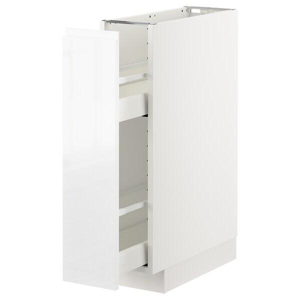 METOD Szafka stoj/wysuwane mocowania wew, biały/Voxtorp połysk/biel, 20x60 cm