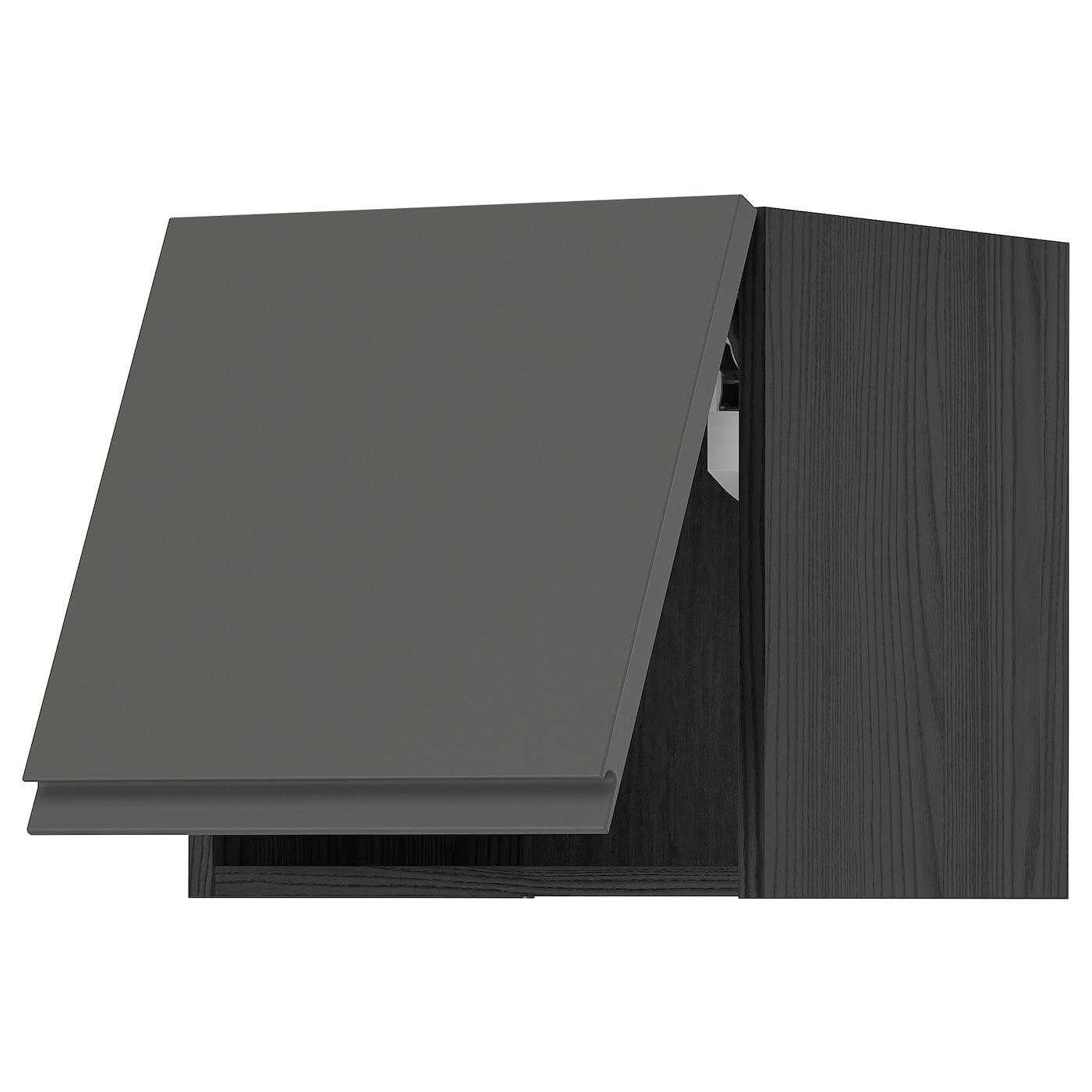 IKEA METOD Szafka śc poz, czarny, Voxtorp ciemnoszary, 40x40 cm