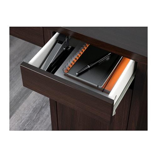 МИККЕ Письменный стол, черно-коричневый, 105x50 см-6