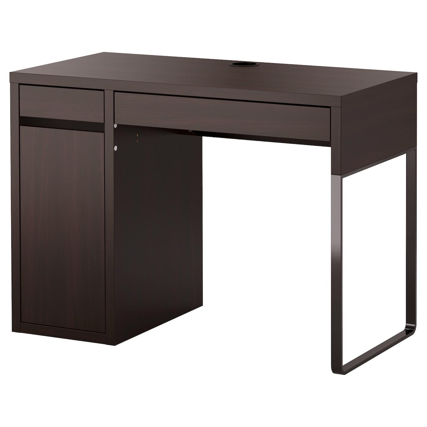 МИККЕ -1 Письменный стол, черно-коричневый