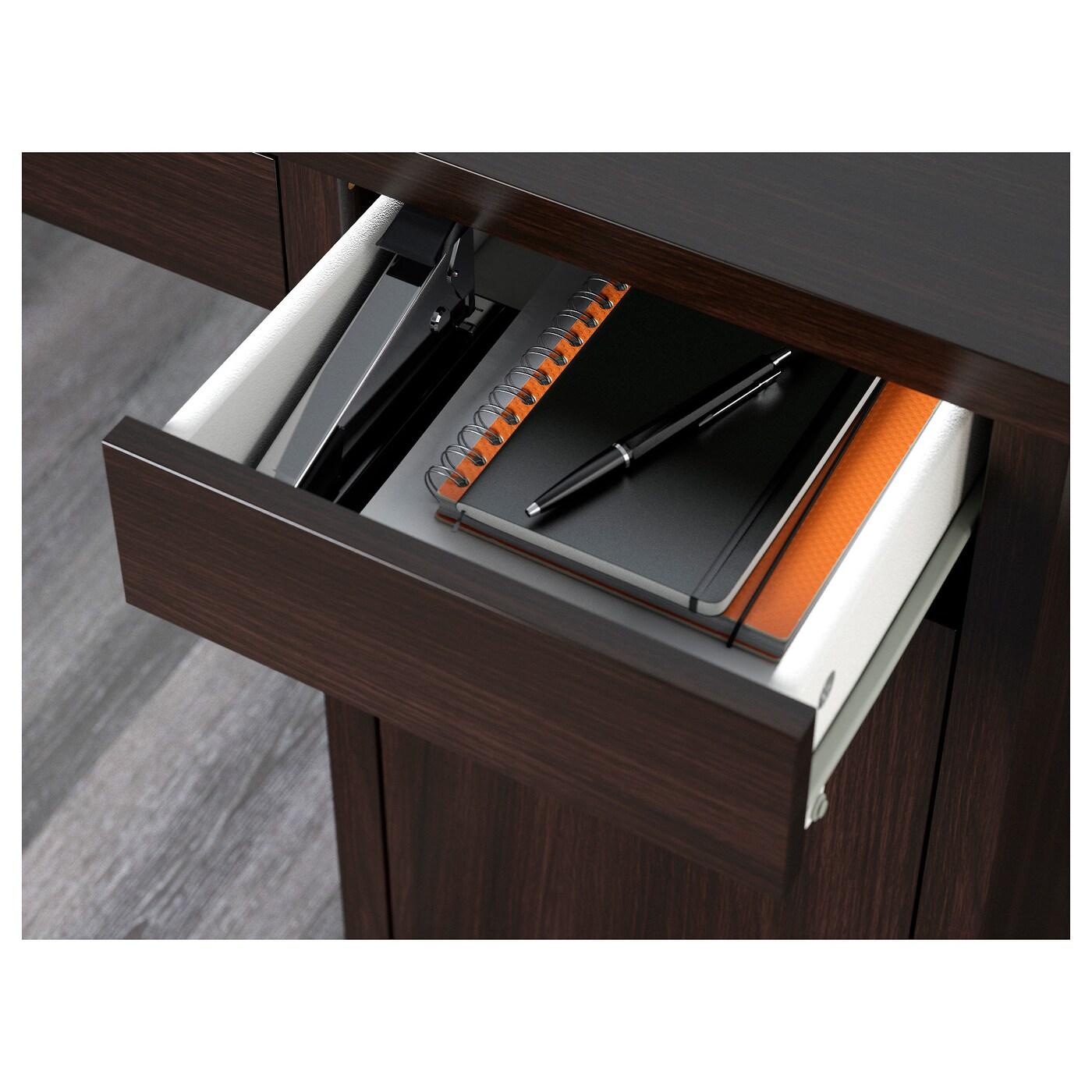 МИККЕ -5 Письменный стол, черно-коричневый