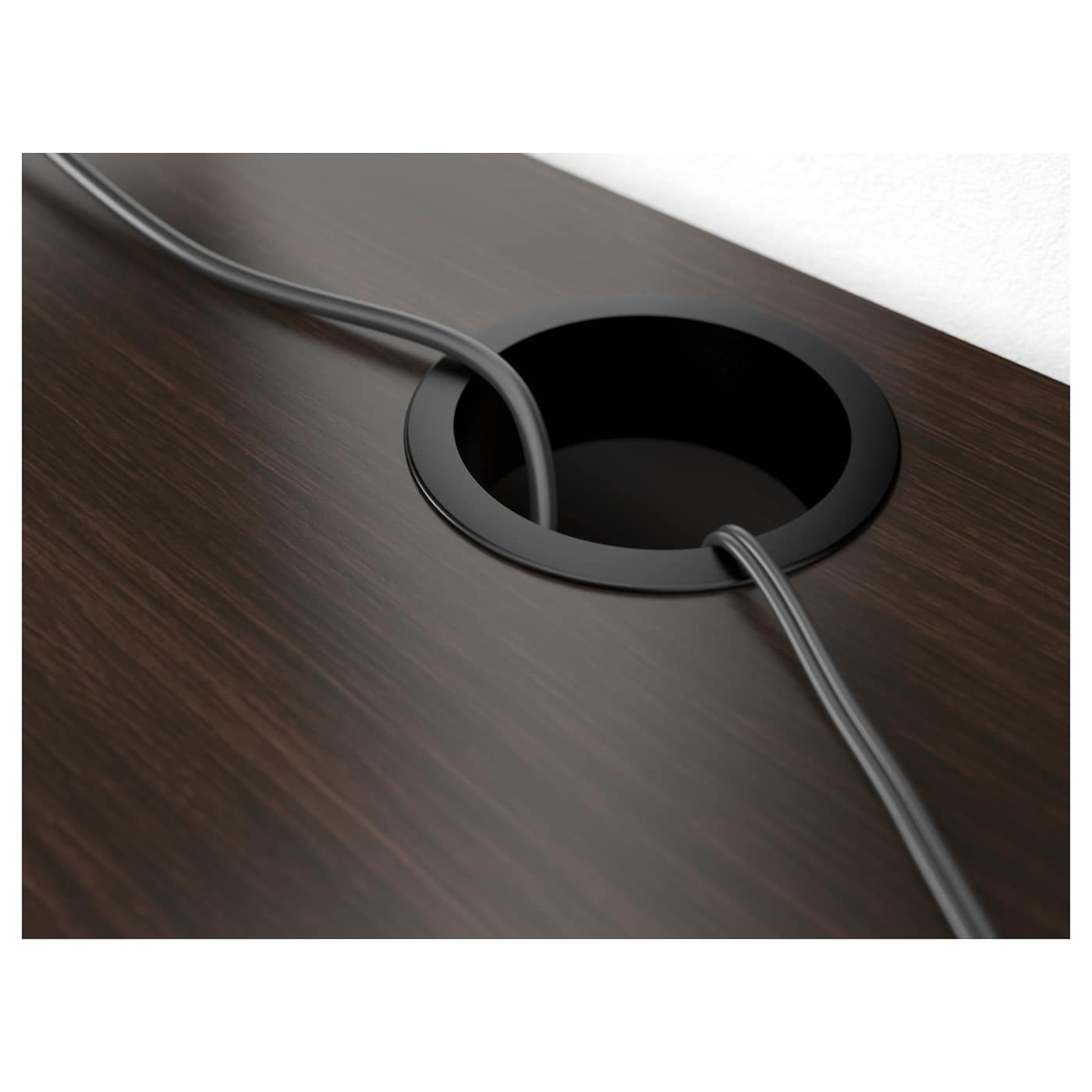МИККЕ -6 Письменный стол, черно-коричневый