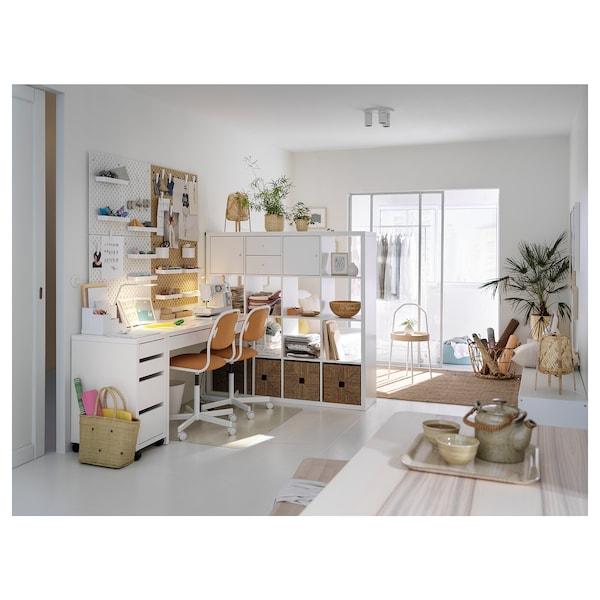 MICKE Komoda na kółkach, biały, 35x75 cm