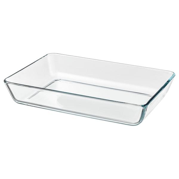 MIXTUR Naczynie żaroodporne, szkło bezbarwne, 35x25 cm