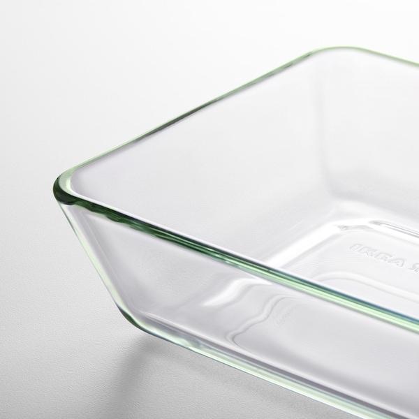 MIXTUR Naczynie żaroodporne, szkło bezbarwne, 27x18 cm
