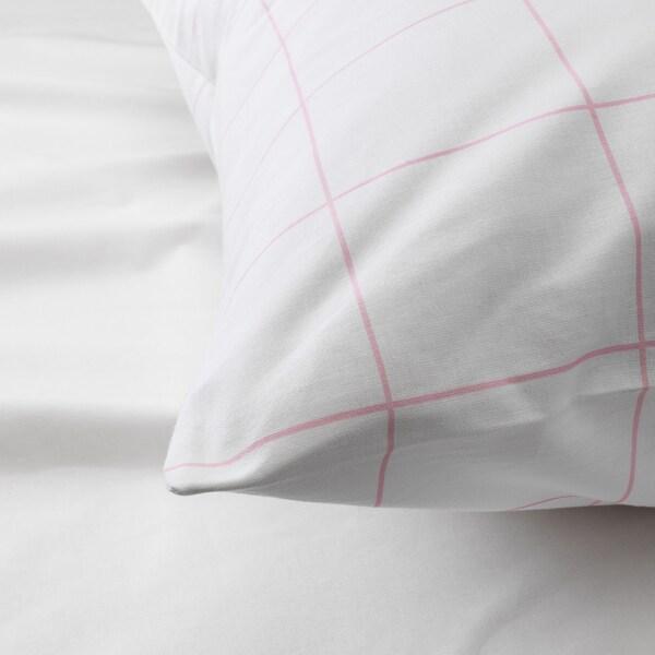 MÖJLIGHET komplet pościeli różowy/graficzny deseń 200 cm 150 cm 50 cm 60 cm