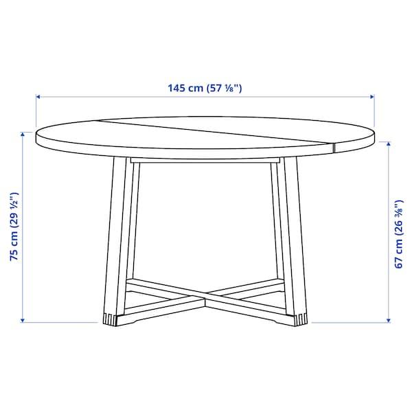 MÖRBYLÅNGA Stół, okl dęb brązowa bejca, 145 cm