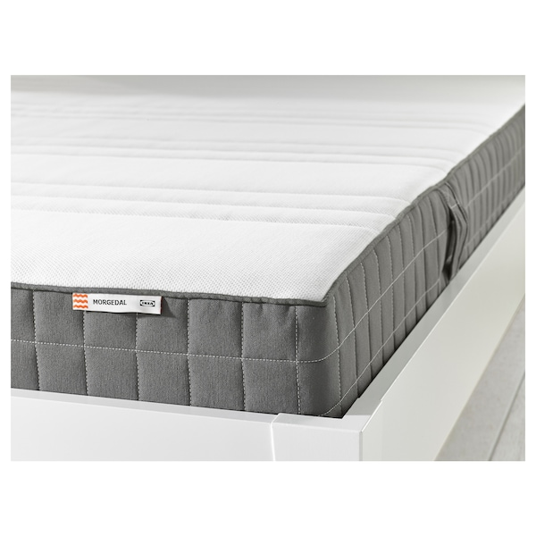 MORGEDAL Materac lateksowy, średnio twardy/ciemnoszary, 160x200 cm
