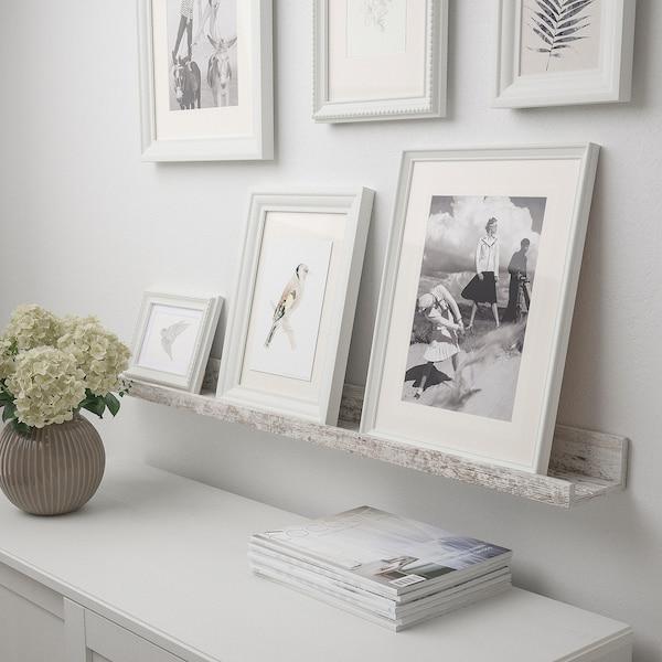MOSSLANDA Półka na zdjęcia, biały imitacja bejcowana sosna, 115 cm