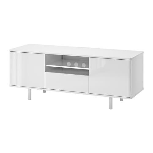 Mostorp Szafka Pod Tv Połysk Biały Ikea