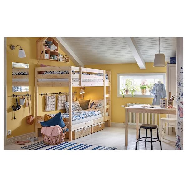 MYDAL Rama łóżka piętrowego, sosna, 90x200 cm