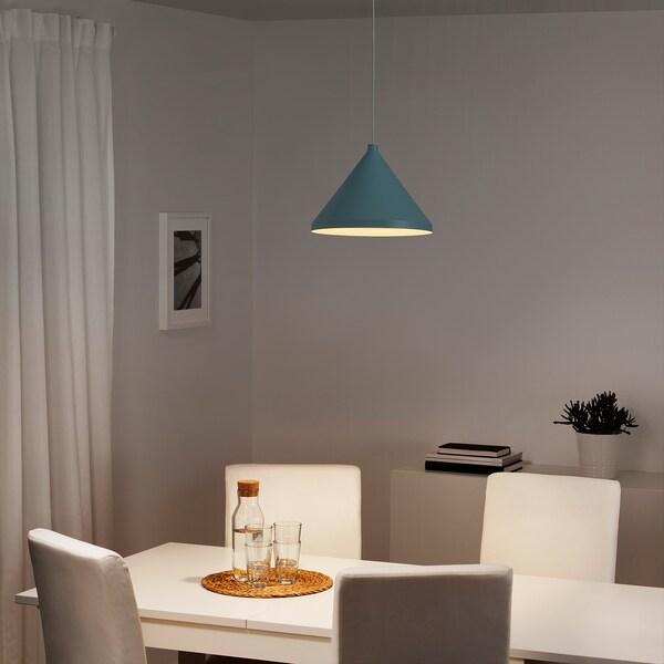 NÄVLINGE Lampa wisząca, jasnoniebieski, 33 cm