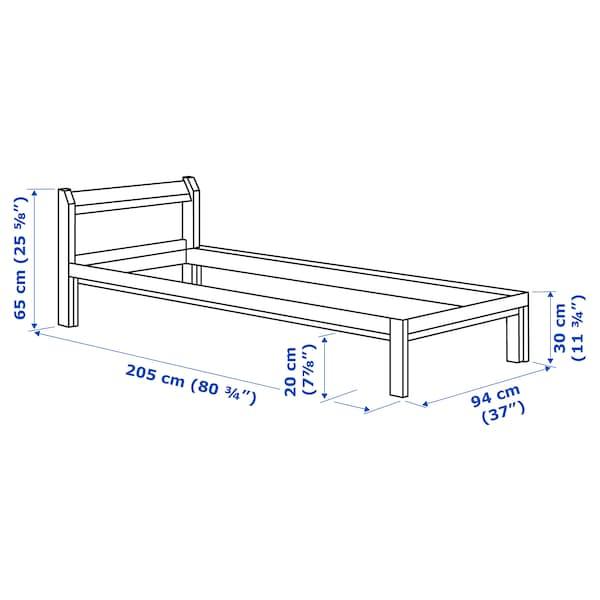 NEIDEN Rama łóżka, sosna, 90x200 cm