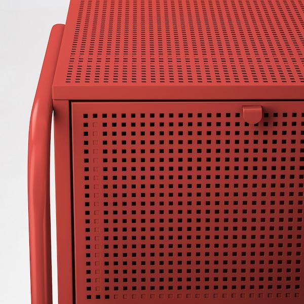 NIKKEBY Komoda, 4 szuflady, czerwony, 84x70 cm