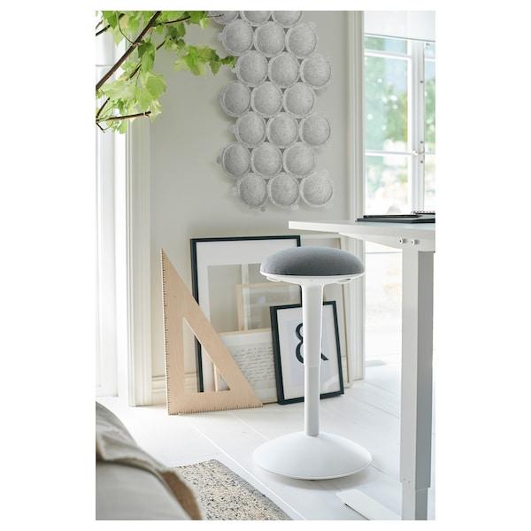 NILSERIK stołek do biurka biały/Vissle szary 110 kg 35 cm 41 cm 51 cm 71 cm