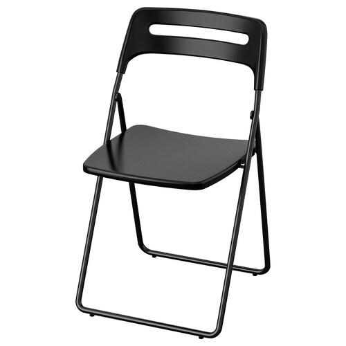 NISSE krzesło składane czarny 100 kg 45 cm 47 cm 76 cm 39 cm 42 cm 45 cm
