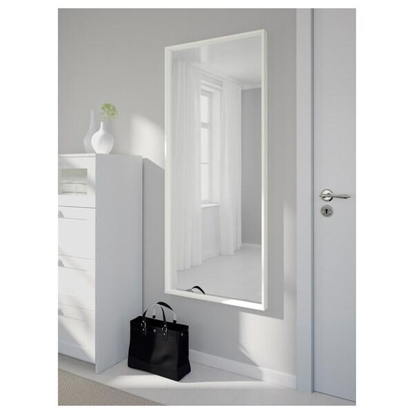 NISSEDAL Lustro, biały, 65x150 cm