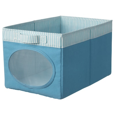 NÖJSAM Pudełko, niebieski, 25x37x22 cm