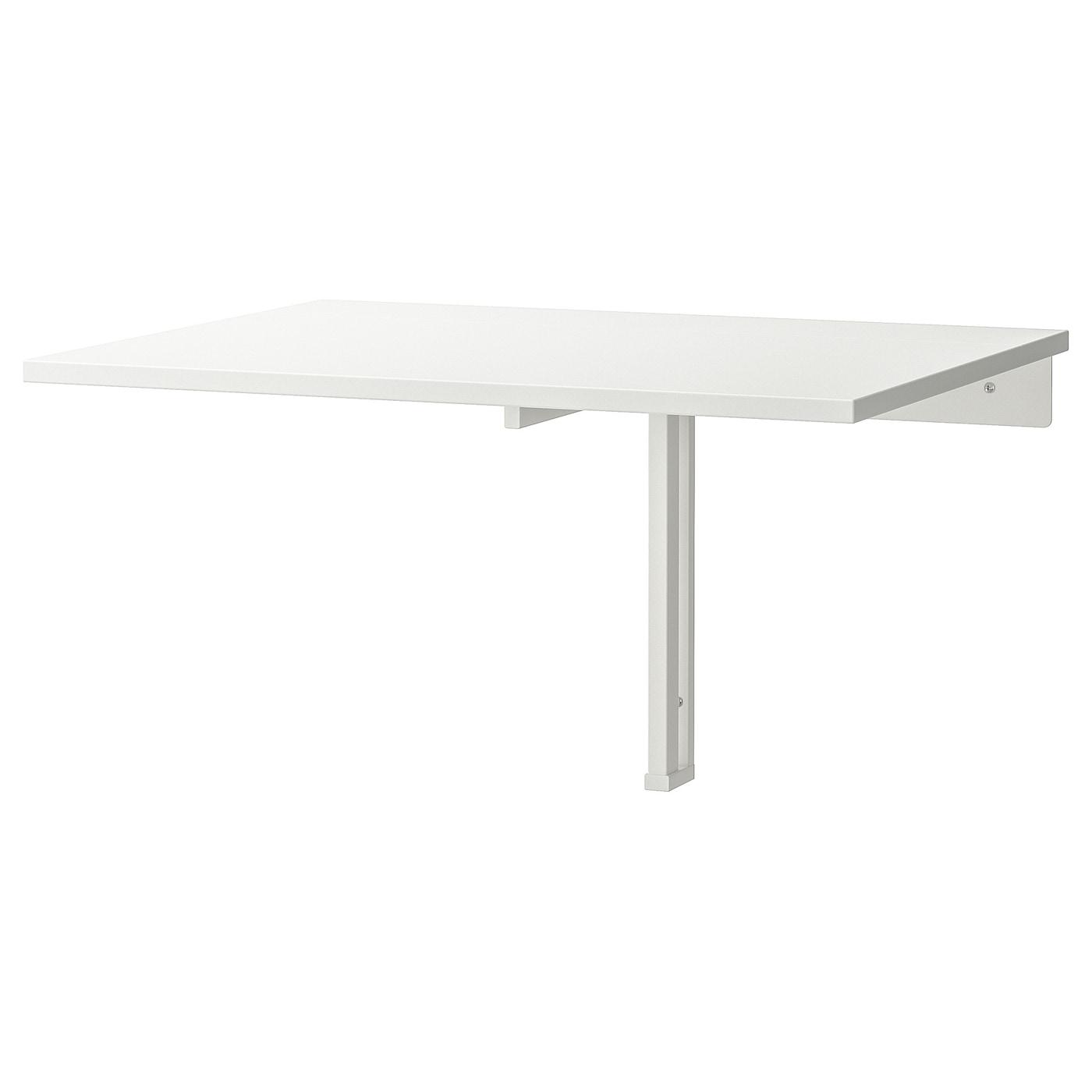 IKEA NORBERG biały, składany stolik ścienny, 74x60 cm