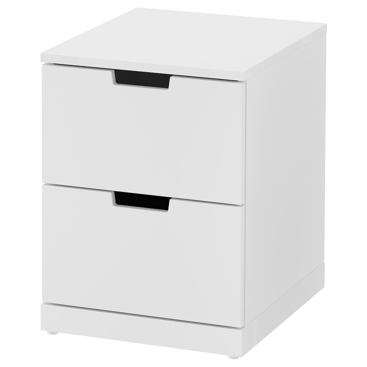 IKEA NORDLI Komoda, 2 szuflady, biały, 40x54 cm