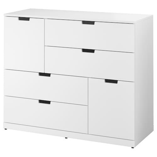 NORDLI komoda, 6 szuflad biały 120 cm 47 cm 99 cm 37 cm