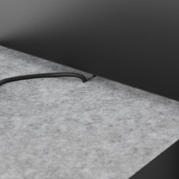 NORDLI szczyt łóżka antracyt 240 cm 84 cm 4 cm 140 cm 160 cm