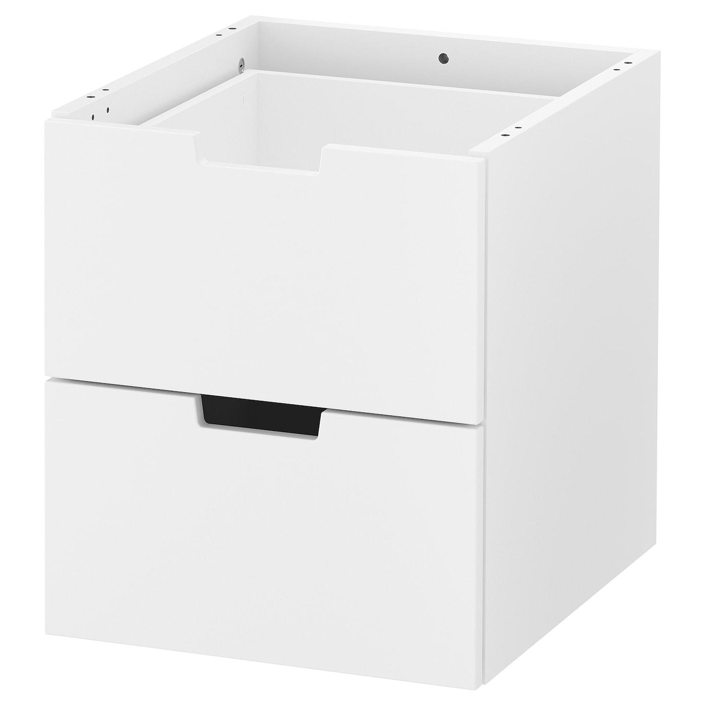 IKEA NORDLI Komoda modułowa/2 szuflady, biały, 40x45 cm