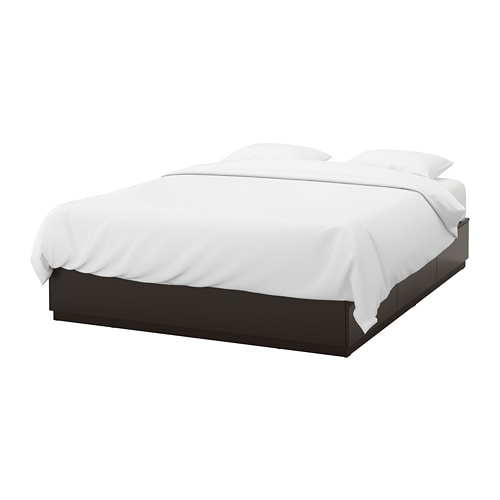 nordli rama ka z szufladami 160x200 cm ikea. Black Bedroom Furniture Sets. Home Design Ideas