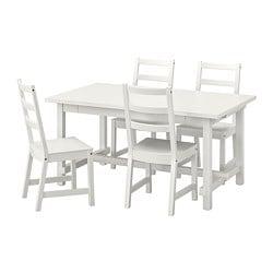 NORDVIKEN / NORDVIKEN Stół i 4 krzesła
