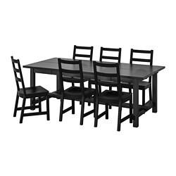 NORDVIKEN / NORDVIKEN Stół i 6 krzeseł