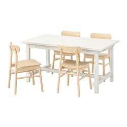 NORDVIKEN / RÖNNINGE Stół i 4 krzesła