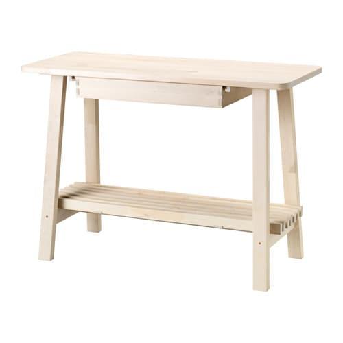 НОРРОКЕР Консольный стол, белый береза, 120x50 см-1