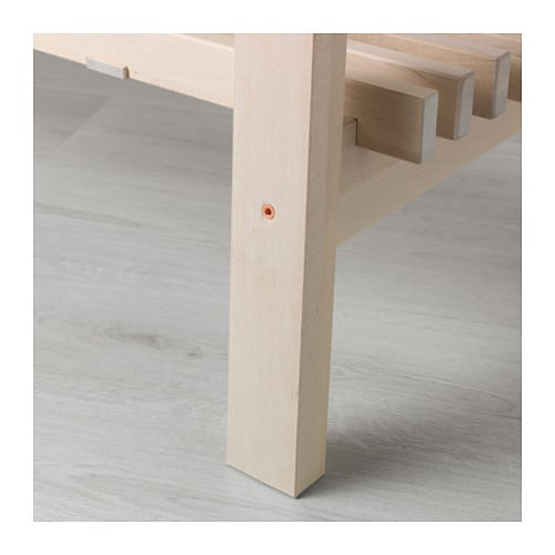 НОРРОКЕР Консольный стол, белый береза, 120x50 см-5