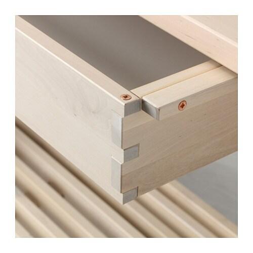 НОРРОКЕР Консольный стол, белый береза, 120x50 см-3