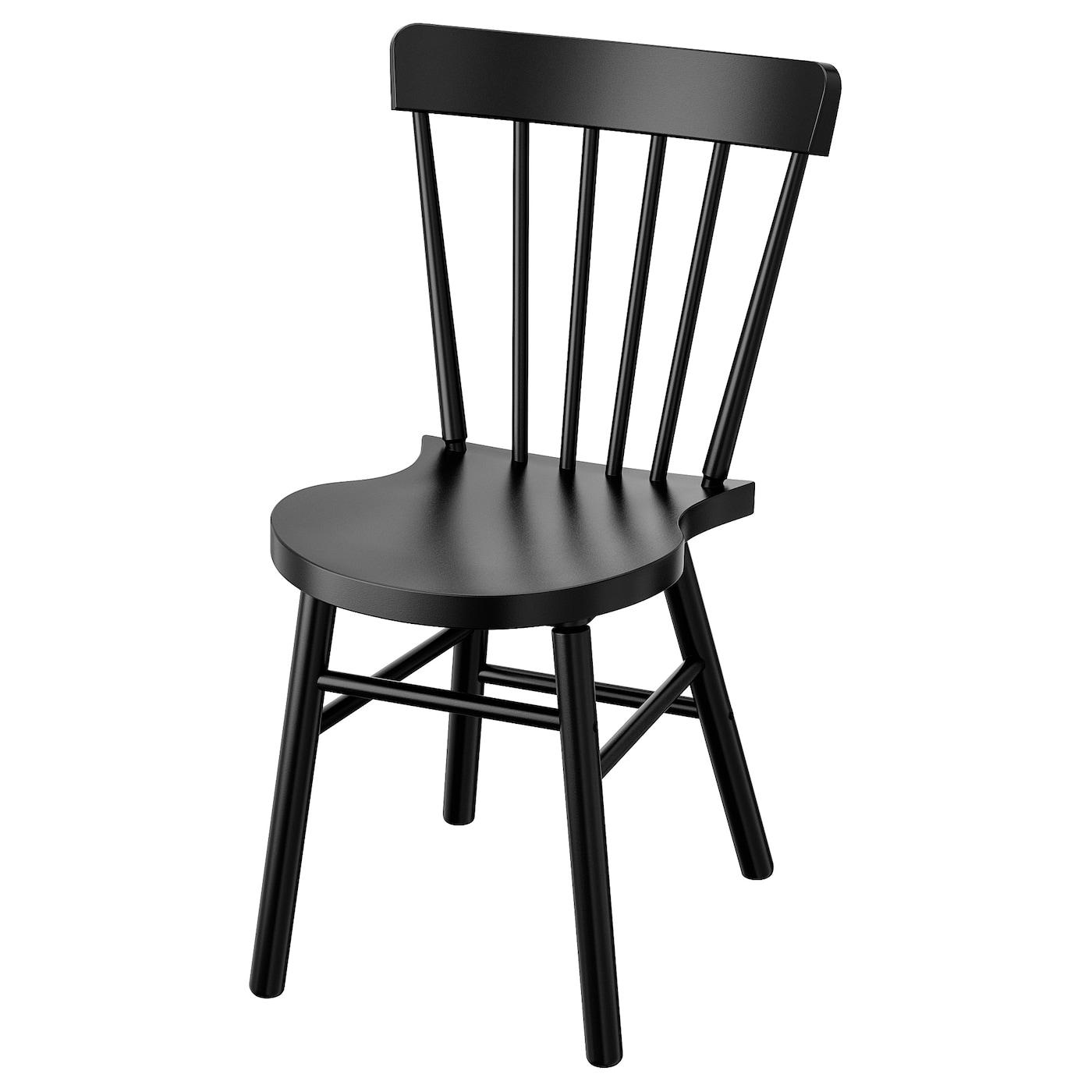 IKEA NORRARYD czarne krzesło do jadalni