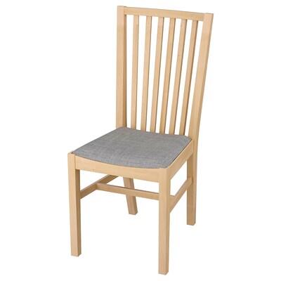 NORRNÄS Krzesło, brzoza/Isunda szary