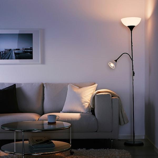 NOT Lampa podłogowa/do czytania, czarny