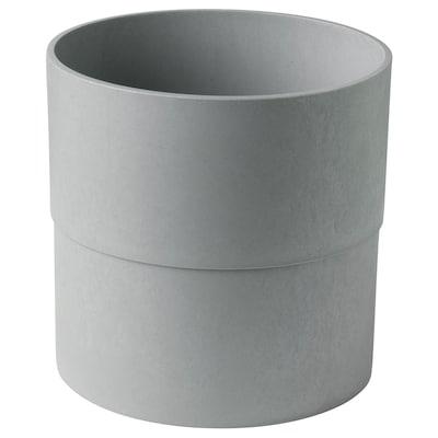 NYPON Osłonka doniczki, do wewnątrz/na zewnątrz szary, 24 cm