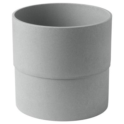 NYPON Osłonka doniczki, do wewnątrz/na zewnątrz szary, 19 cm