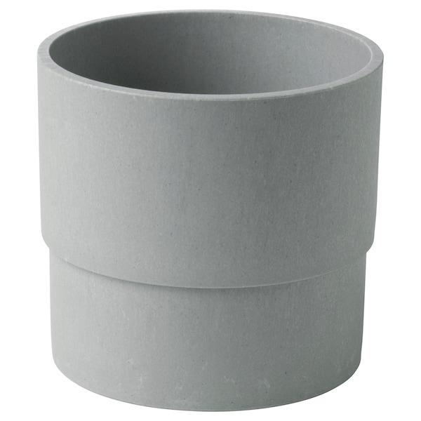 NYPON Osłonka doniczki, do wewnątrz/na zewnątrz szary, 12 cm