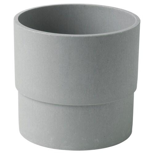 NYPON Osłonka doniczki do wewnątrz/na zewnątrz szary 12 cm 14 cm 12 cm 13 cm