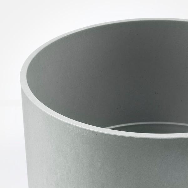 NYPON Osłonka doniczki do wewnątrz/na zewnątrz szary 24 cm 26 cm 24 cm 25 cm