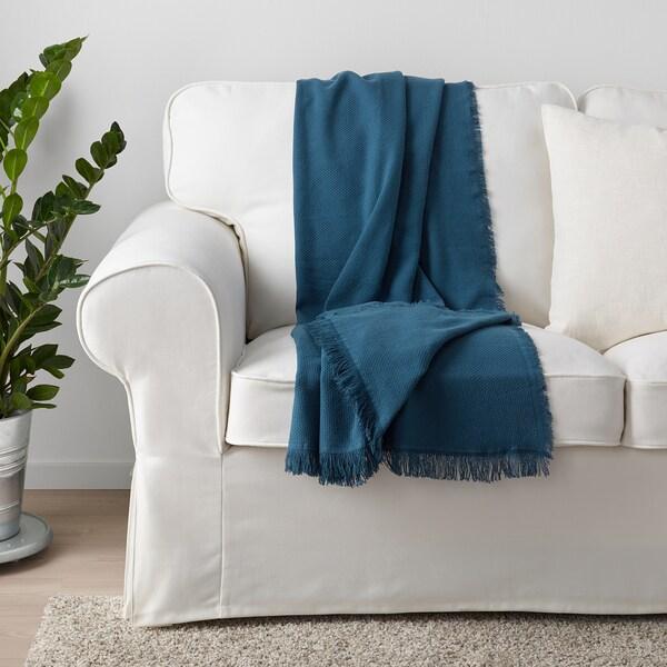 ODDRUN Pled, niebieski, 130x170 cm