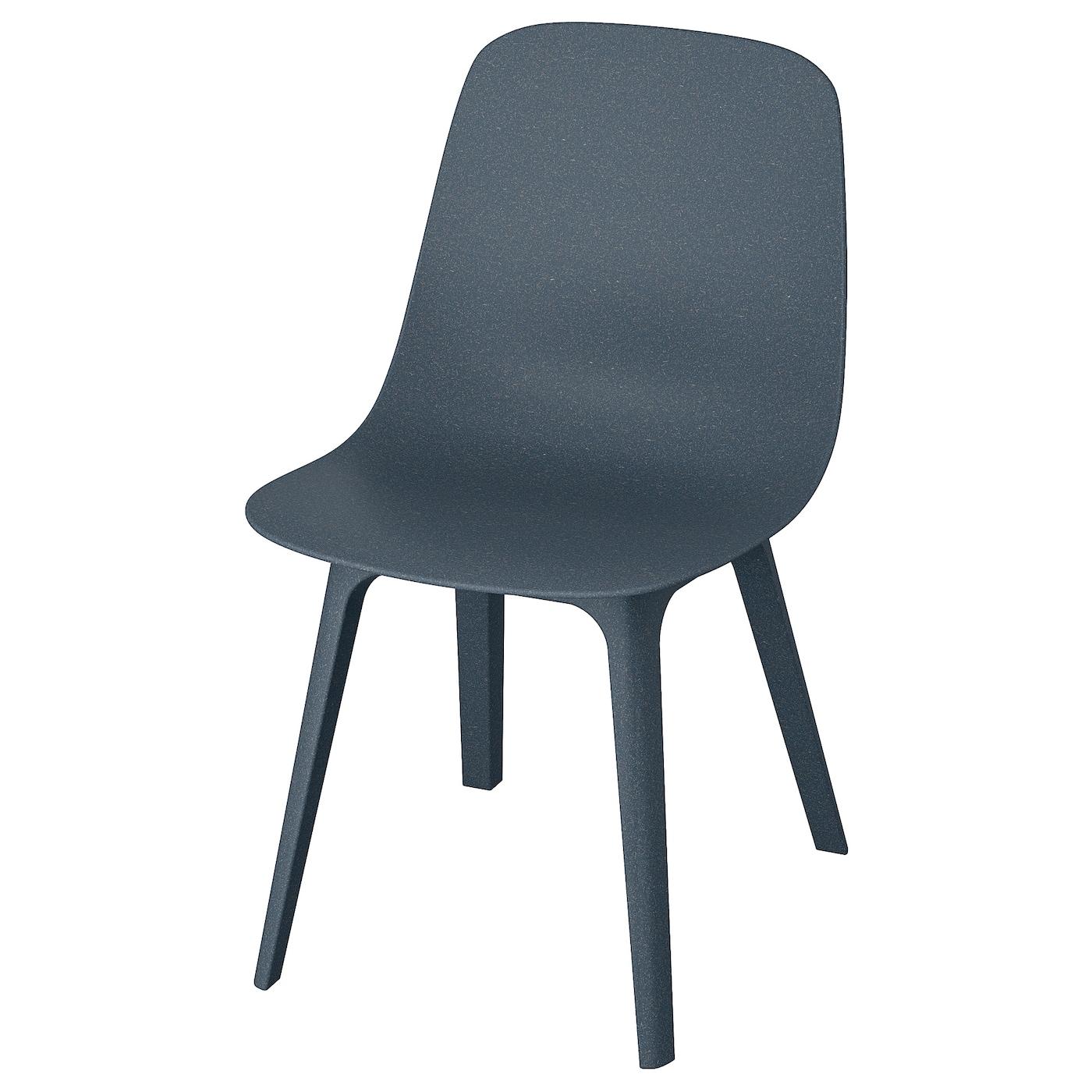 IKEA ODGER niebieskie krzesło do jadalni