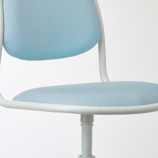 ÖRFJÄLL Dziecięce krzesło biurowe, biały, Vissle niebieski