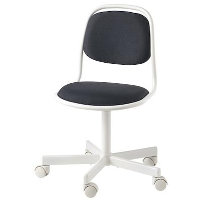 ÖRFJÄLL Dziecięce krzesło biurowe, biały/Vissle ciemnoszary
