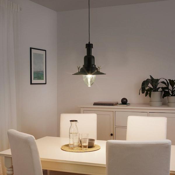 OTTAVA lampa wisząca czarny 60 Wat 30 cm 1.2 m