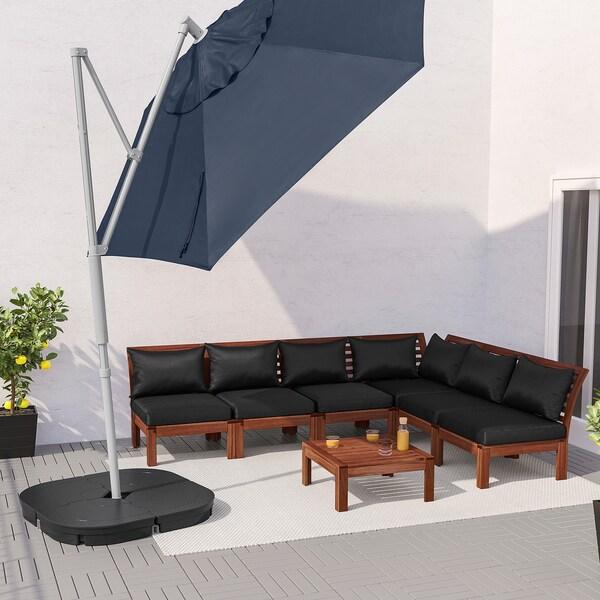 OXNÖ / LINDÖJA zawieszany parasol niebieski 180 g/m² 265 cm 300 cm