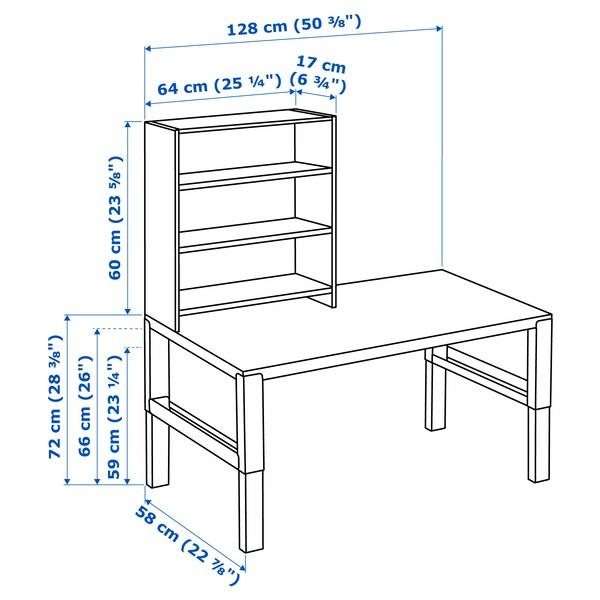 PÅHL Biurko z półką, biały, 128x58 cm